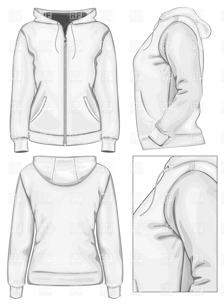 Sweatshirt With Zipper Download Royalty Free Vector Clipart  Eps