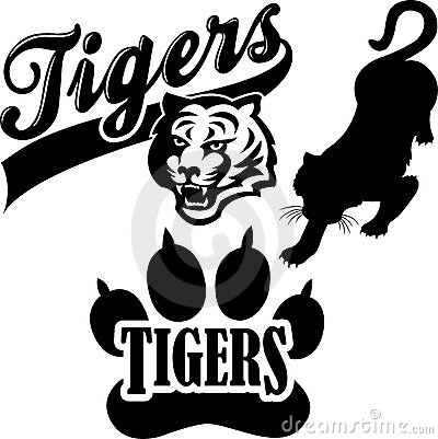Tiger Mascot Clipart Tiger Mascot Black And White Tiger Team Mascot Eps 15292093 Jpg