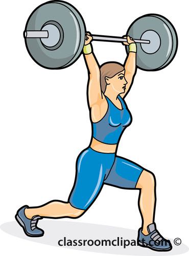 Clip Art Weightlifting Clipart female weight lifting clipart kid weightlifting position 04a classroom clipart