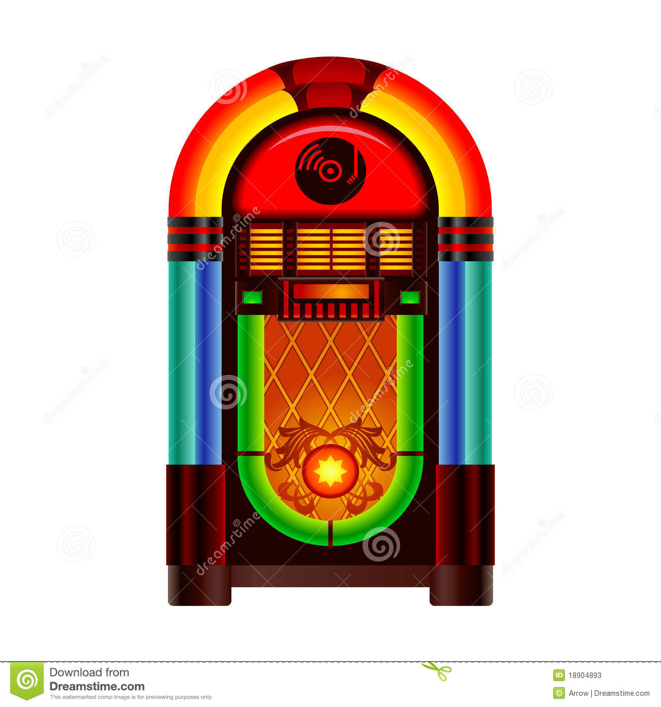1950s Jukebox Clipart Jukebox Stock Illustrations Vectors   Clipart