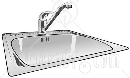51414 Royalty Free Rf Clipart Illustration Of A Shiny New Kitchen Sink