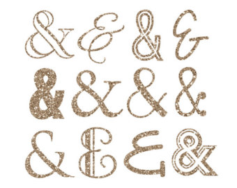 60  Off Sale Ampersands Gold Glitter Clipart Ampersand Clipart Wedding