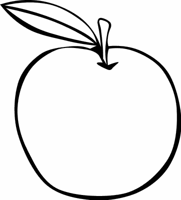 Apple Outline    Food Fruit Apple Apple Outline Png Html
