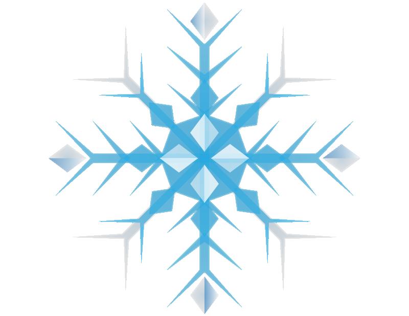 Blue Snowflake Clip Art Free