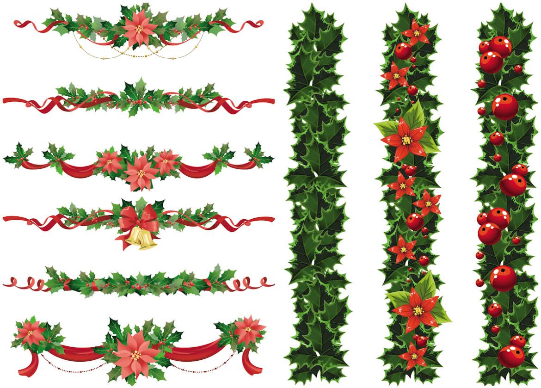 Clip Art Christmas Garland Clipart christmas garland borders clipart kid ornaments vector 3 sets of 9 green christmas