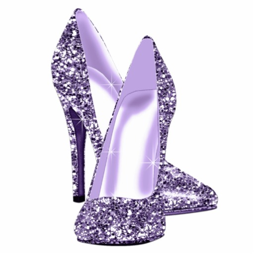 Elegant Purple Glitter High Heel Shoes Photo Cut Outs   Zazzle