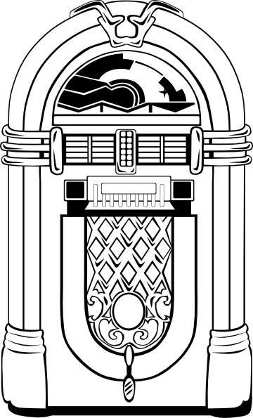 Fifties Jukebox 2 Clip Art At Clker Com   Vector Clip Art Online