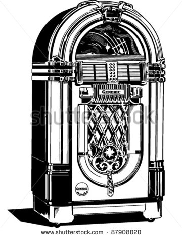 Fifties Jukebox Clip Art Free Vector   4vector