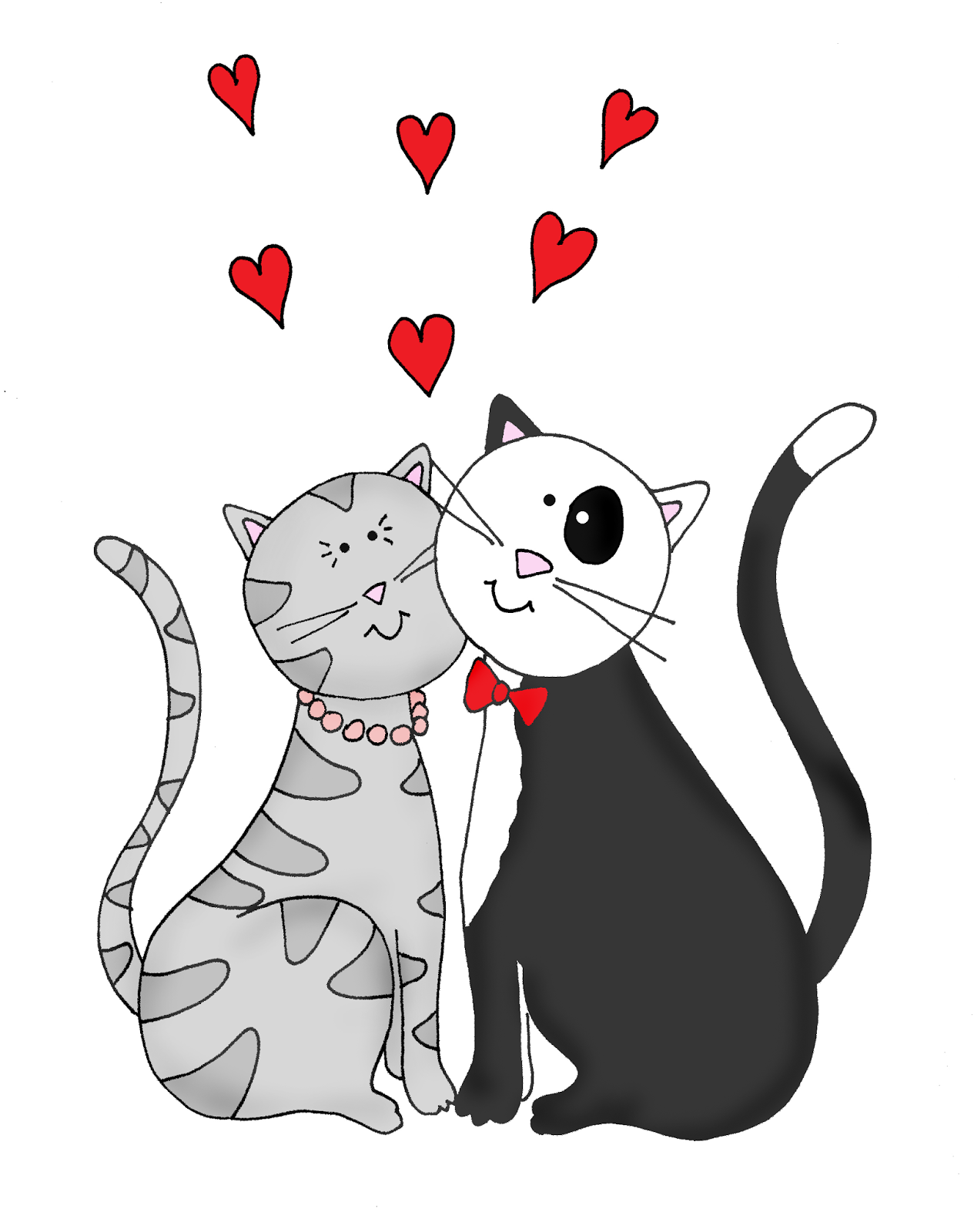 Free Dearie Dolls Digi Stamps  Valentine Cats