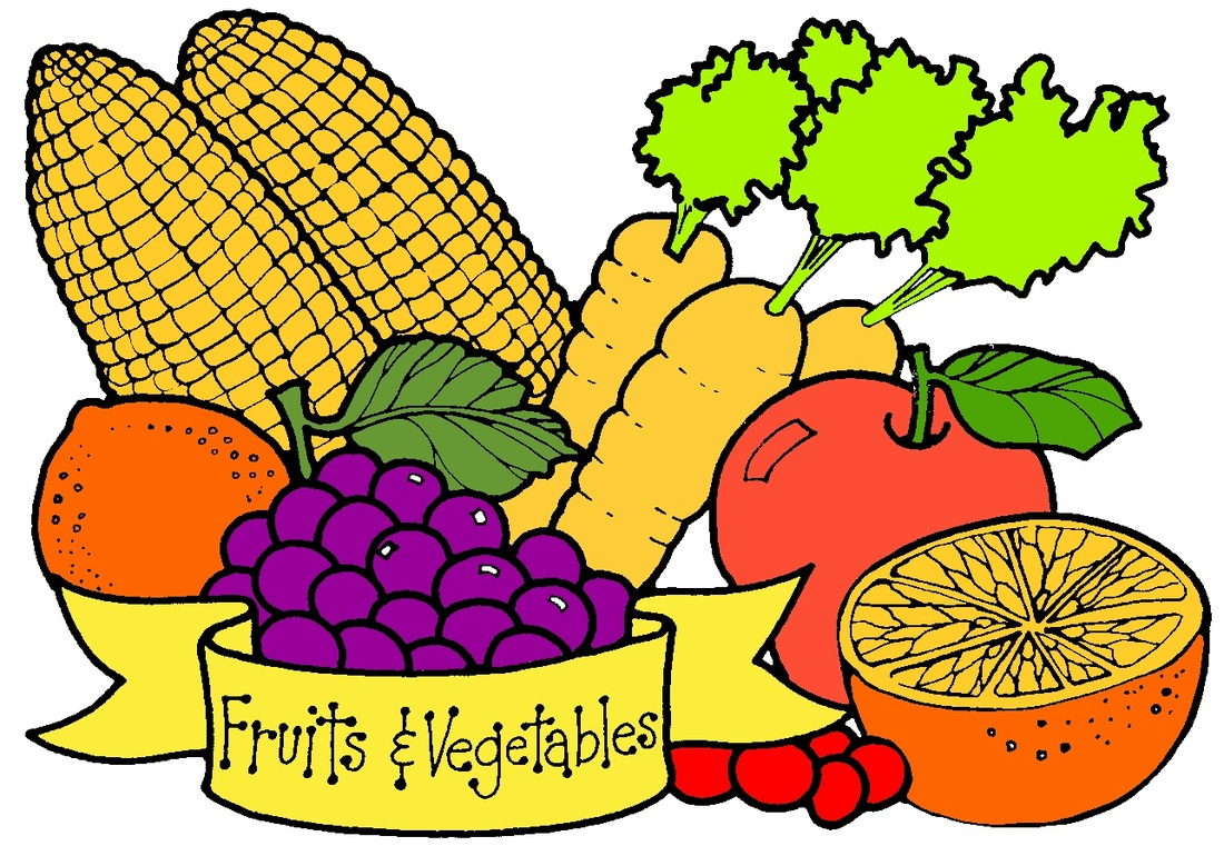 Clip Art Fruits And Vegetables Clipart fruits and veggies clipart kid fruit vegetable border clip art 402037 orig jpg