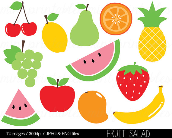 Fruit Clipart Clip Art Fruit Salad Watermelon Pineapple Apple