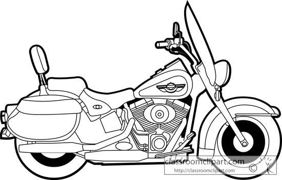 Line Drawing Motorcycle : Harley motorcycle black and white clipart suggest