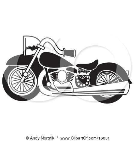 Harley Motorcycle Black And White Clipart - Clipart Kid