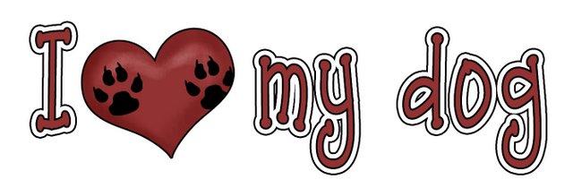 Love My Pet Clipart Single   Word Art  Ilmp I Love My Dog Wordart