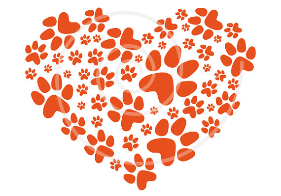 Pet Cat Dog Love Footprint Digital Clip Art Clip Art Clipart