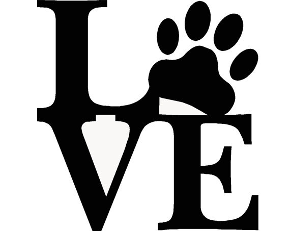 Pet Love Paw Print Dog Puppy Living Room Den Barn Vetenarian