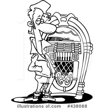 Royalty Free  Rf  Jukebox Clipart Illustration By Ron Leishman   Stock