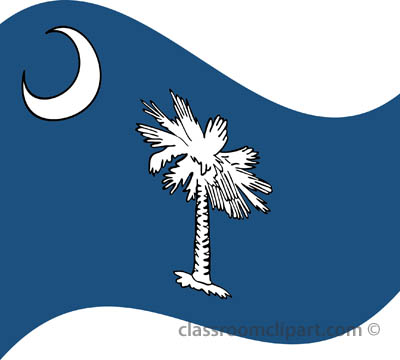 State Flags   South Carolina Flag Waving   Classroom Clipart