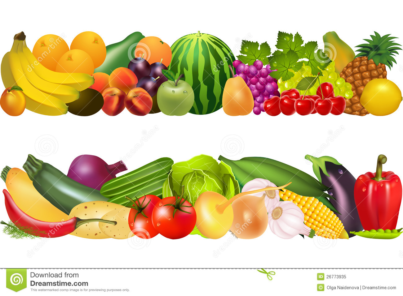 Fruits And Vegetables Clipart - Clipart Kid