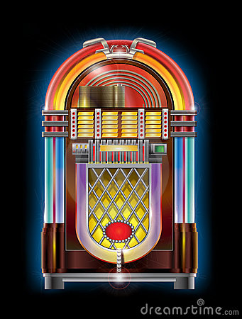 Very Realistic And Colorful Illustration Of Jukebox