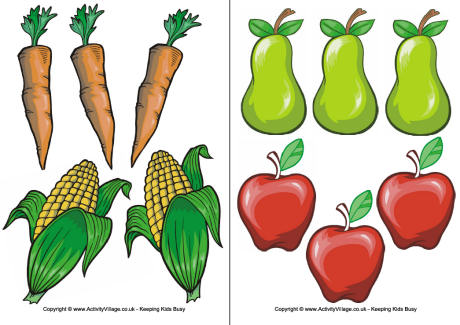 View And Print Fruit And Vegetable Clipart Printable  Pdf File 2
