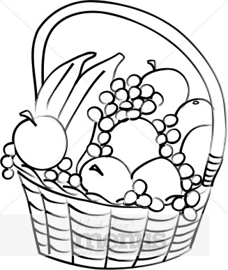 Word Png Eps Jpg Tweet Basket Of Fruit Clipart Fresh Fruit Piles High