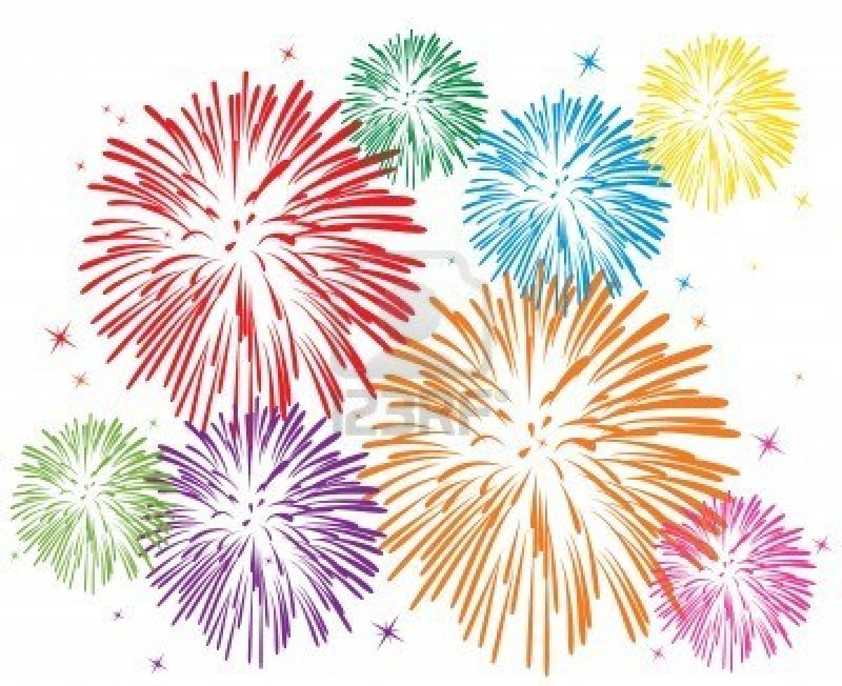 7318174 Vector Colorful Fireworks On White Background   Posters Abu