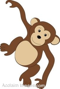 Baby Monkey Clip Art Black And White   Clipart Panda   Free Clipart
