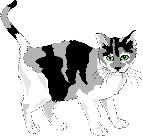 Black And Gray Cat Clip Art At Clker Com   Vector Clip Art Online