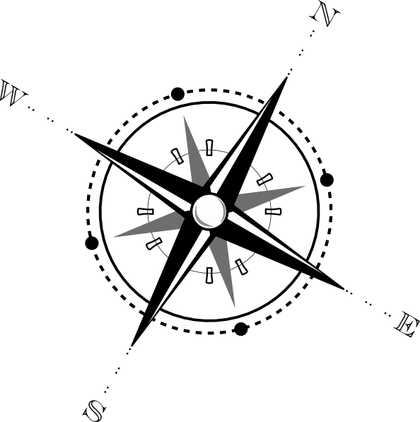 Black And White Compass Clip Art At Clker Com   Vector Clip Art Online