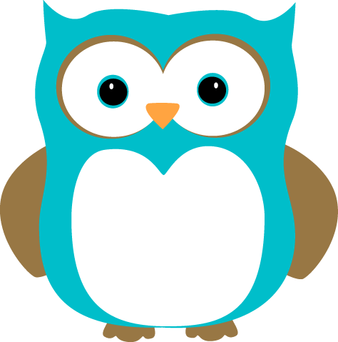 Blue And Brown Owl Clip Art Image   Blue Owl With Blue Eyes And Brown
