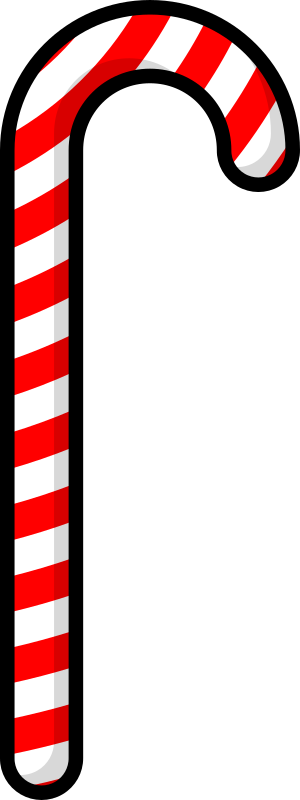 Candy Cane By Purzen   A Cartoonish Candy Cane