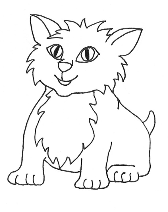 Small Cute Cat Clipart - Clipart Kid