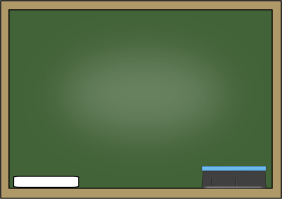 Chalkboard With Chalk And Eraser Clip Art   Chalkboard With Chalk And