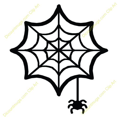 Clipart 11626 Spider And Web   Spider And Web Mugs T Shirts Picture