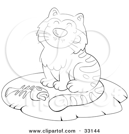 Sleeping Cat Clip Art Black And White Rug Cliparts