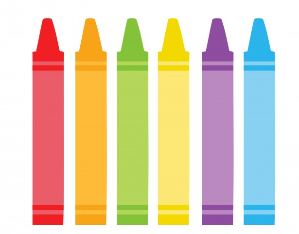 Colorful Crayons Clipart By Karen Arnold