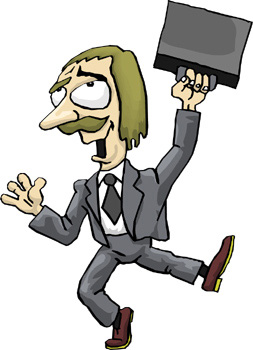Crazy Lawyer Clipart