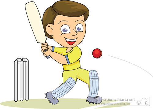 Cricket Clipart   Playing Cricket 214   Classroom Clipart