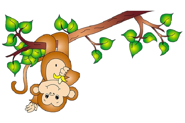 Cute Baby Monkey Clipart
