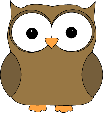 Cute Brown Owl Clip Art Image   Cute Brown Owl With Brown Wings And