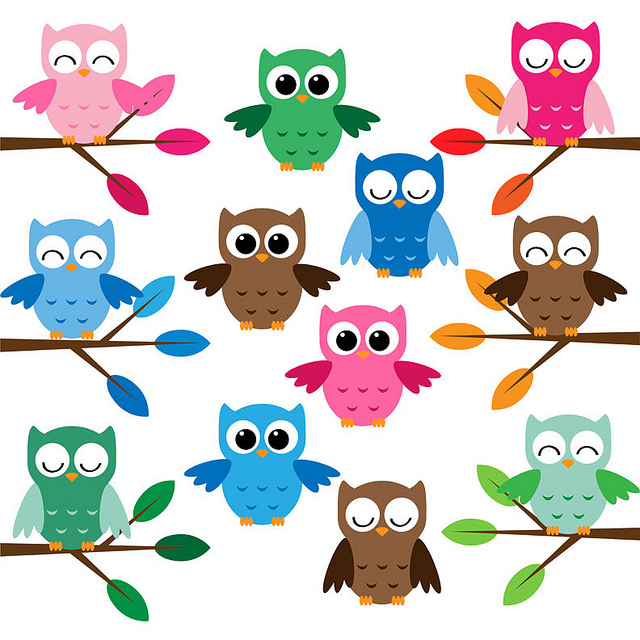 Cute Owls Clip Art Set   Flickr   Photo Sharing
