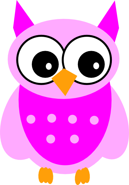 Pink Owl Clipart - Clipart Suggest