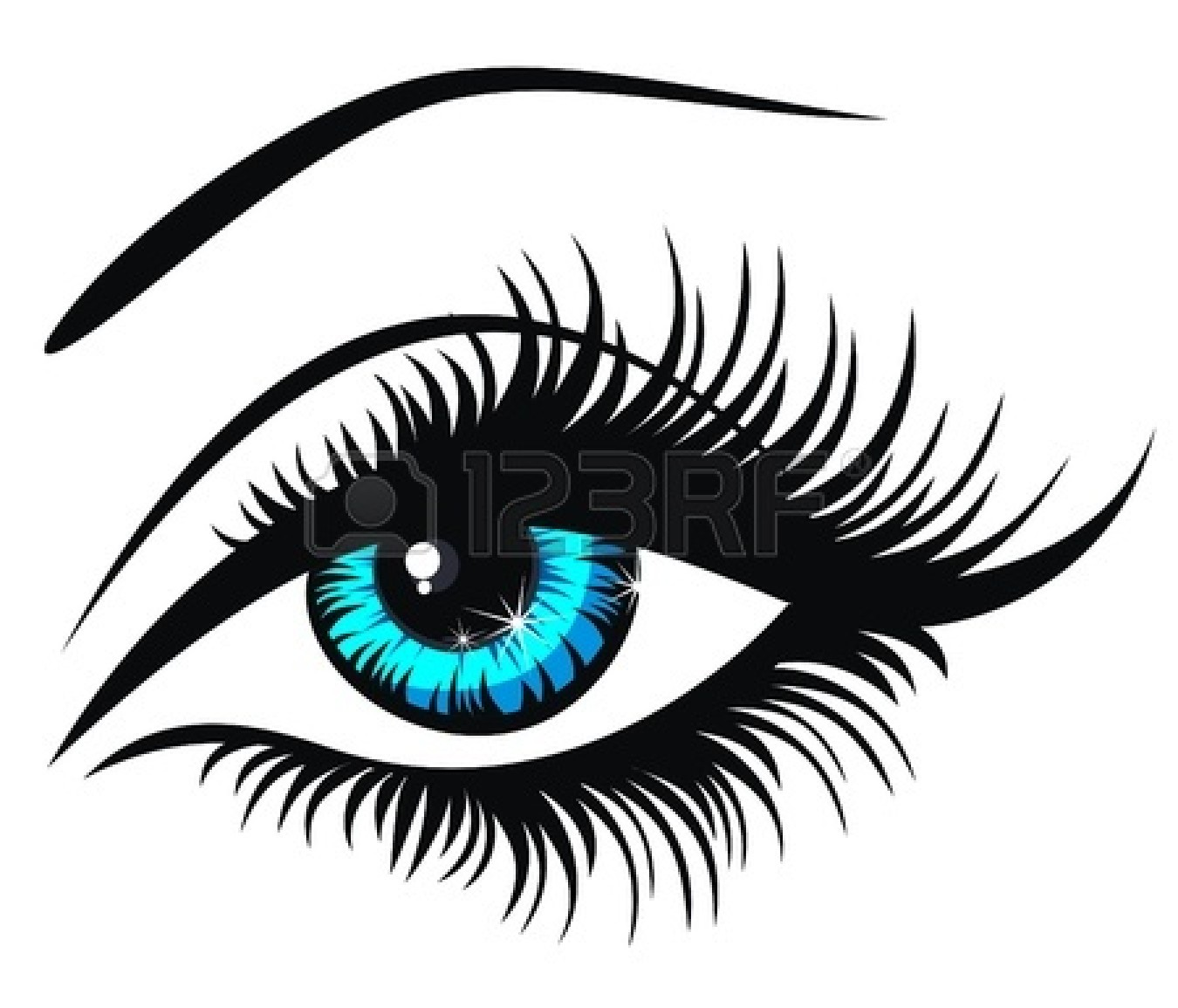 Eye Clipart Black And White Eye Clip Arthuman Eye Stock Vector