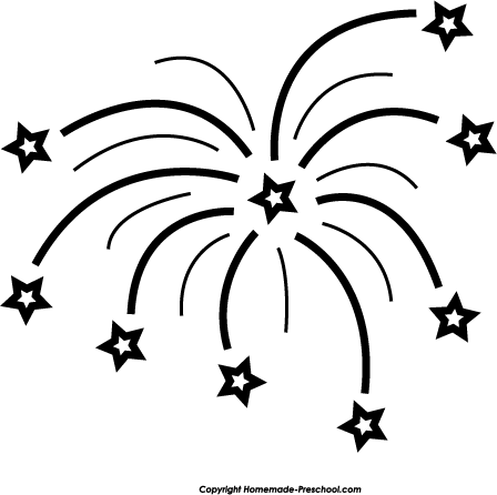 Fireworks Clip Art Black White   Clipart Panda   Free Clipart Images