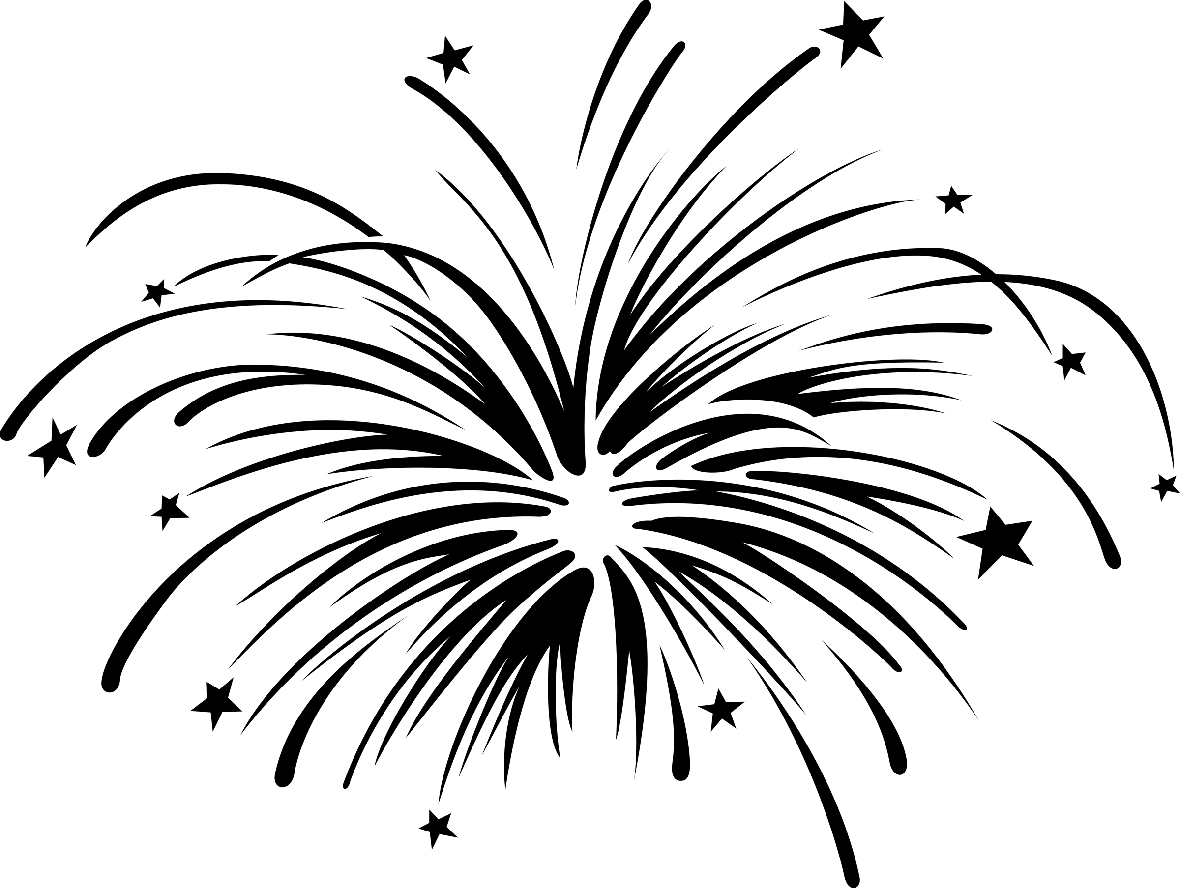 Fireworks Clipart Black And White   Clipart Panda   Free Clipart