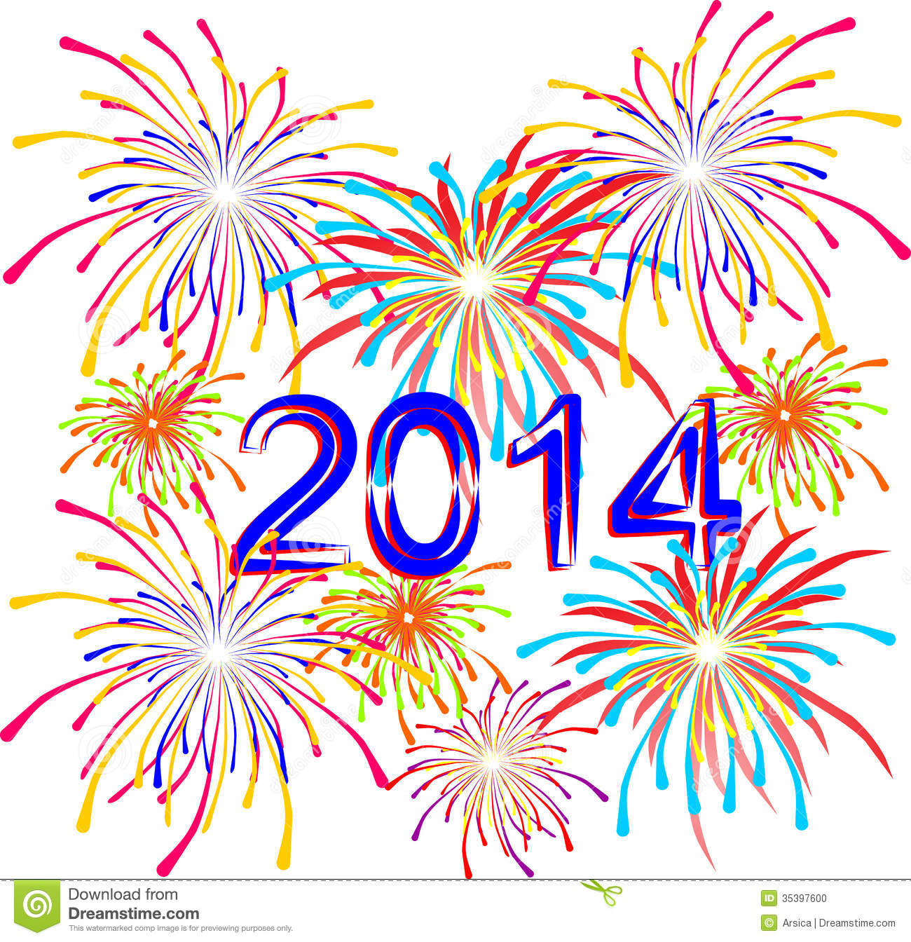 Firework Images Clip Art - Synkee