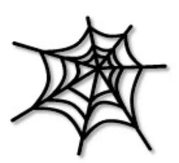 Free Clipart Picture Of Black Spider Web