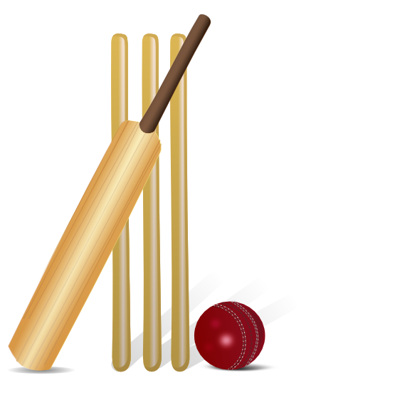 Free Cricket Bat   Ball Clip Art