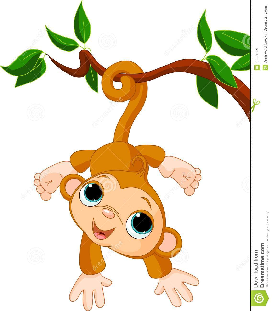 Girl Monkey Clip Art Monkey In A Tree Clipart Baby Monkey Tree